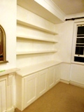 Strand-WC2 fitted bookcases