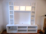 white floating shelves in cambridge